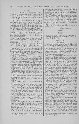 Tome 5 : 1789 – États généraux. Suite des cahiers des sénéchaussées et baillages [Paris (hors les murs) (suite) - Toulon] - page 14