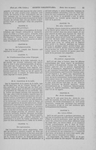 Tome 5 : 1789 – États généraux. Suite des cahiers des sénéchaussées et baillages [Paris (hors les murs) (suite) - Toulon] - page 15