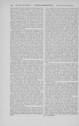 Tome 5 : 1789 – États généraux. Suite des cahiers des sénéchaussées et baillages [Paris (hors les murs) (suite) - Toulon] - page 348