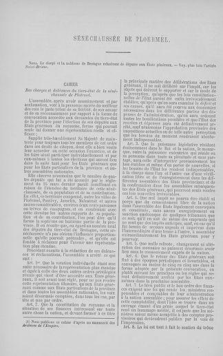 Tome 5 : 1789 – États généraux. Suite des cahiers des sénéchaussées et baillages [Paris (hors les murs) (suite) - Toulon] - page 378