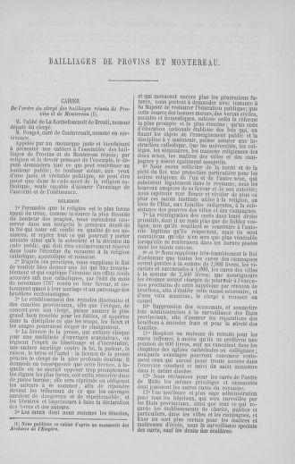 Tome 5 : 1789 – États généraux. Suite des cahiers des sénéchaussées et baillages [Paris (hors les murs) (suite) - Toulon] - page 445