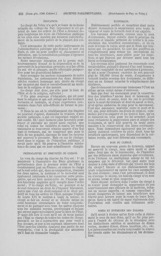 Tome 5 : 1789 – États généraux. Suite des cahiers des sénéchaussées et baillages [Paris (hors les murs) (suite) - Toulon] - page 458