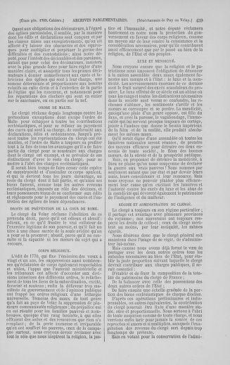 Tome 5 : 1789 – États généraux. Suite des cahiers des sénéchaussées et baillages [Paris (hors les murs) (suite) - Toulon] - page 459