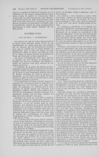 Tome 5 : 1789 – États généraux. Suite des cahiers des sénéchaussées et baillages [Paris (hors les murs) (suite) - Toulon] - page 466
