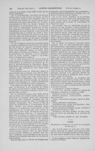 Tome 5 : 1789 – États généraux. Suite des cahiers des sénéchaussées et baillages [Paris (hors les murs) (suite) - Toulon] - page 484