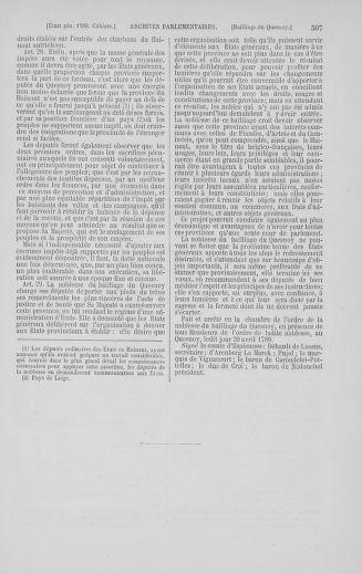 Tome 5 : 1789 – États généraux. Suite des cahiers des sénéchaussées et baillages [Paris (hors les murs) (suite) - Toulon] - page 507