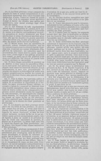 Tome 5 : 1789 – États généraux. Suite des cahiers des sénéchaussées et baillages [Paris (hors les murs) (suite) - Toulon] - page 539