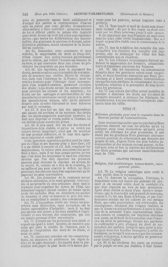 Tome 5 : 1789 – États généraux. Suite des cahiers des sénéchaussées et baillages [Paris (hors les murs) (suite) - Toulon] - page 542