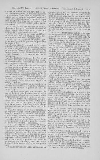 Tome 5 : 1789 – États généraux. Suite des cahiers des sénéchaussées et baillages [Paris (hors les murs) (suite) - Toulon] - page 543