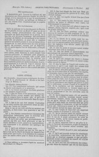 Tome 5 : 1789 – États généraux. Suite des cahiers des sénéchaussées et baillages [Paris (hors les murs) (suite) - Toulon] - page 557