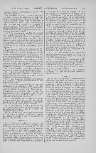 Tome 5 : 1789 – États généraux. Suite des cahiers des sénéchaussées et baillages [Paris (hors les murs) (suite) - Toulon] - page 565