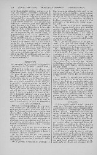 Tome 5 : 1789 – États généraux. Suite des cahiers des sénéchaussées et baillages [Paris (hors les murs) (suite) - Toulon] - page 570