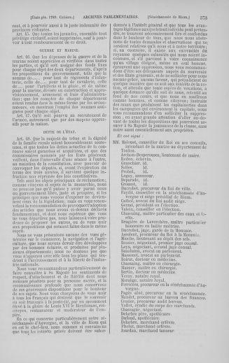 Tome 5 : 1789 – États généraux. Suite des cahiers des sénéchaussées et baillages [Paris (hors les murs) (suite) - Toulon] - page 573