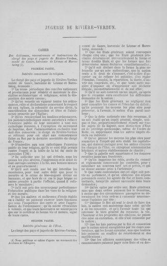 Tome 5 : 1789 – États généraux. Suite des cahiers des sénéchaussées et baillages [Paris (hors les murs) (suite) - Toulon] - page 581