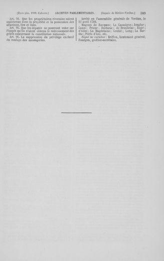 Tome 5 : 1789 – États généraux. Suite des cahiers des sénéchaussées et baillages [Paris (hors les murs) (suite) - Toulon] - page 589