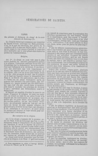 Tome 5 : 1789 – États généraux. Suite des cahiers des sénéchaussées et baillages [Paris (hors les murs) (suite) - Toulon] - page 659