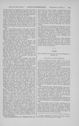 Tome 5 : 1789 – États généraux. Suite des cahiers des sénéchaussées et baillages [Paris (hors les murs) (suite) - Toulon] - page 669