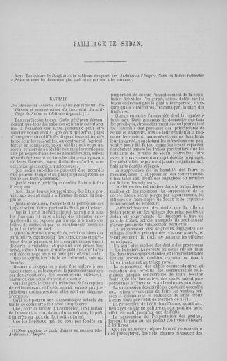 Tome 5 : 1789 – États généraux. Suite des cahiers des sénéchaussées et baillages [Paris (hors les murs) (suite) - Toulon] - page 727