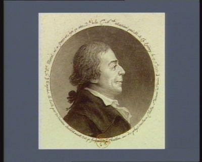J.n P.l Marat né à Genêves agé 50 ans. D.té à la C.on n.le assassiné par M.A. Ch. Corday le 13 j.et 1793 [estampe]