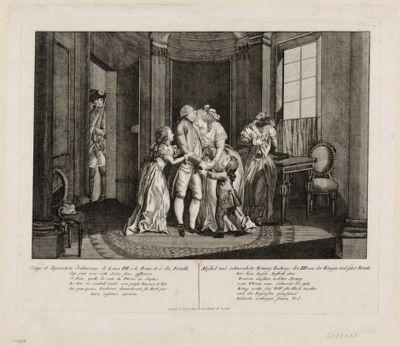 Congé et Separation douleureuse de Louis XVI à la Reine et à Sa Famille [estampe]
