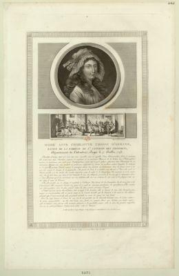 Marie Anne Charlotte Corday d'Armans, native de la paroisse de St Saturnin [estampe]