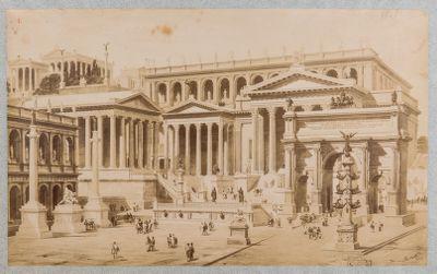 Clivio Capitolino con ricostruzione immaginaria