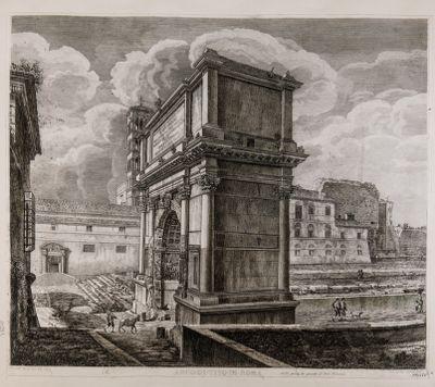Arco di Tito con sfondo del Foro Romano