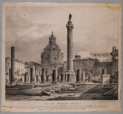 Foro Traiano, veduta dei resti della Basilica Ulpia e Colonna