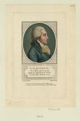 N. M. Quinette né à Paris, agé de 29 ans, député du département de l'Aisne à l'Assemblée nationale de 1791. : [estampe]