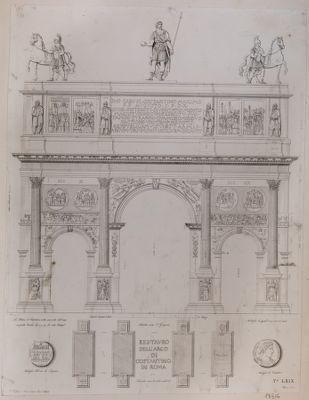 Arco di Costantino, pianta e alzato