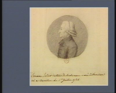 Etienne Lolier docteur de Sorbonne curé d'Aurillac né a Aurillac le 1.er juillet 1724 : [dessin]