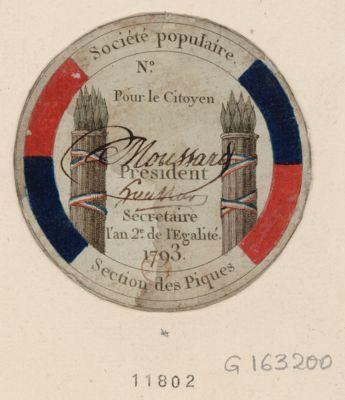 Société populaire, section des piques [estampe]