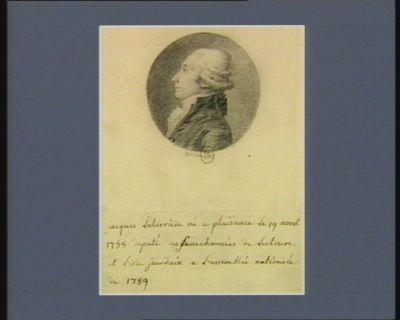 Jacques Laterrade né à Plaisance le 19 aoust 1758 député des sénéchaussées de Lectoure et l'Isle-Jourdain a l'Assemblée nationale de 1789 : [dessin]