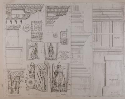 Arco di Costantino, particolari architettonici