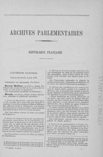 Tome 66 : Du 3 au 19 juin 1793 - page ..