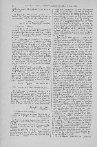 Tome 66 : Du 3 au 19 juin 1793 - page 54