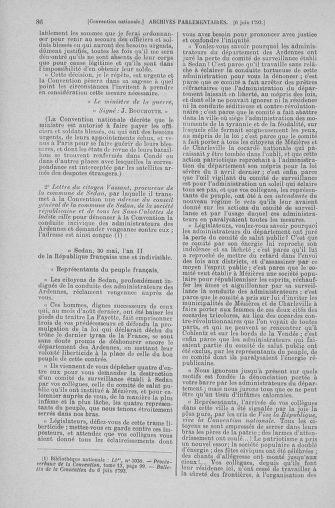 Tome 66 : Du 3 au 19 juin 1793 - page 86