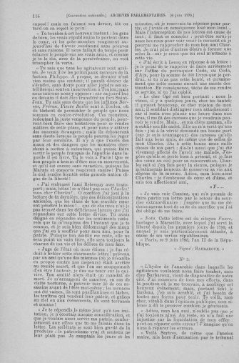 Tome 66 : Du 3 au 19 juin 1793 - page 114