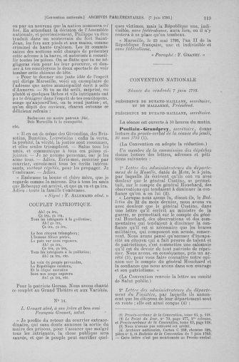 Tome 66 : Du 3 au 19 juin 1793 - page 119