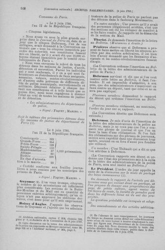 Tome 66 : Du 3 au 19 juin 1793 - page 168