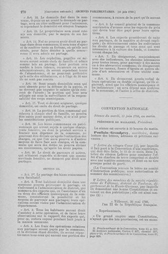 Tome 66 : Du 3 au 19 juin 1793 - page 270