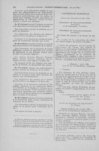 Tome 66 : Du 3 au 19 juin 1793 - page 438