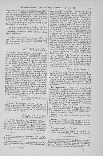 Tome 66 : Du 3 au 19 juin 1793 - page 449