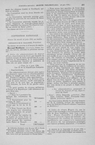 Tome 66 : Du 3 au 19 juin 1793 - page 461