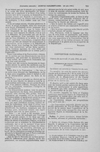 Tome 66 : Du 3 au 19 juin 1793 - page 719