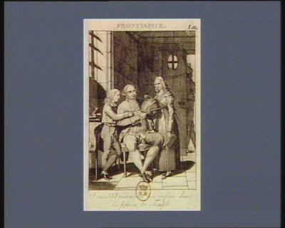 Louis XVI instruisant ses enfans dans la prison du Temple frontispice : [estampe]