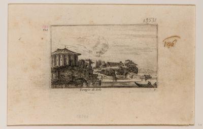 Tempio del Sole, tempio cosiddetto di Vesta, veduta del Tevere