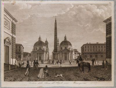Piazza del Popolo con sfondo del Corso