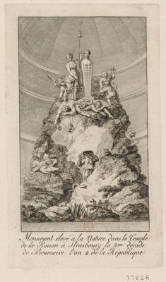 Monument élevé à la Nature dans le Temple de la Raison à Strasbourg la 3.me décade de Brumaire l'an 2 de la République [estampe]