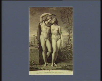 Apollon couronnant la Vérité [estampe]